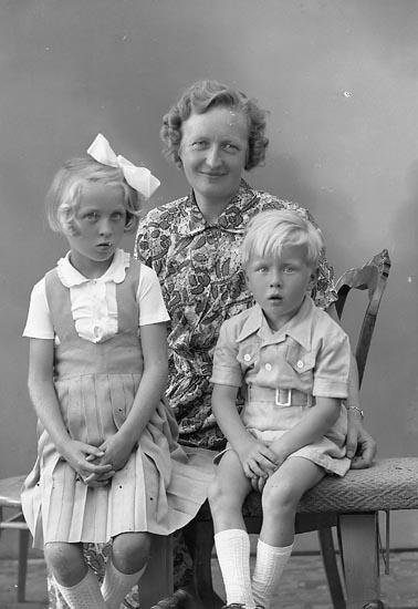"Enligt fotografens journal nr 7 1944-1950: ""Wallin, Fru Edit Ucklum""."