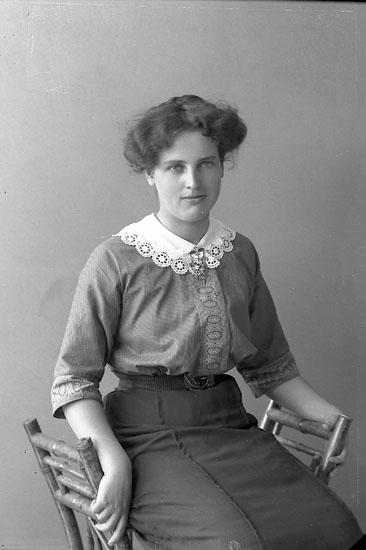 "Enligt fotografens journal nr 2 1909-1915: ""Johansson, Fr. Magna""."