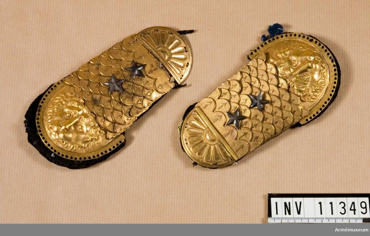 Grupp C I. Epåletter m/1794, 1 par för officerare, löjtnant.