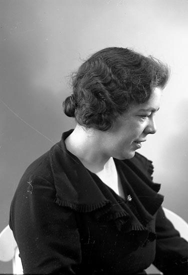 "Enligt fotografens journal nr 6 1930-1943: ""Nilsson, Fr. Elida Gbg Banken Här""."