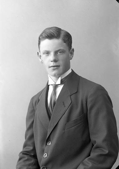 """Enligt fotografens journal nr 4 1918-1922: """"Johansson, John Nedre Röra Spekeröd""""."""