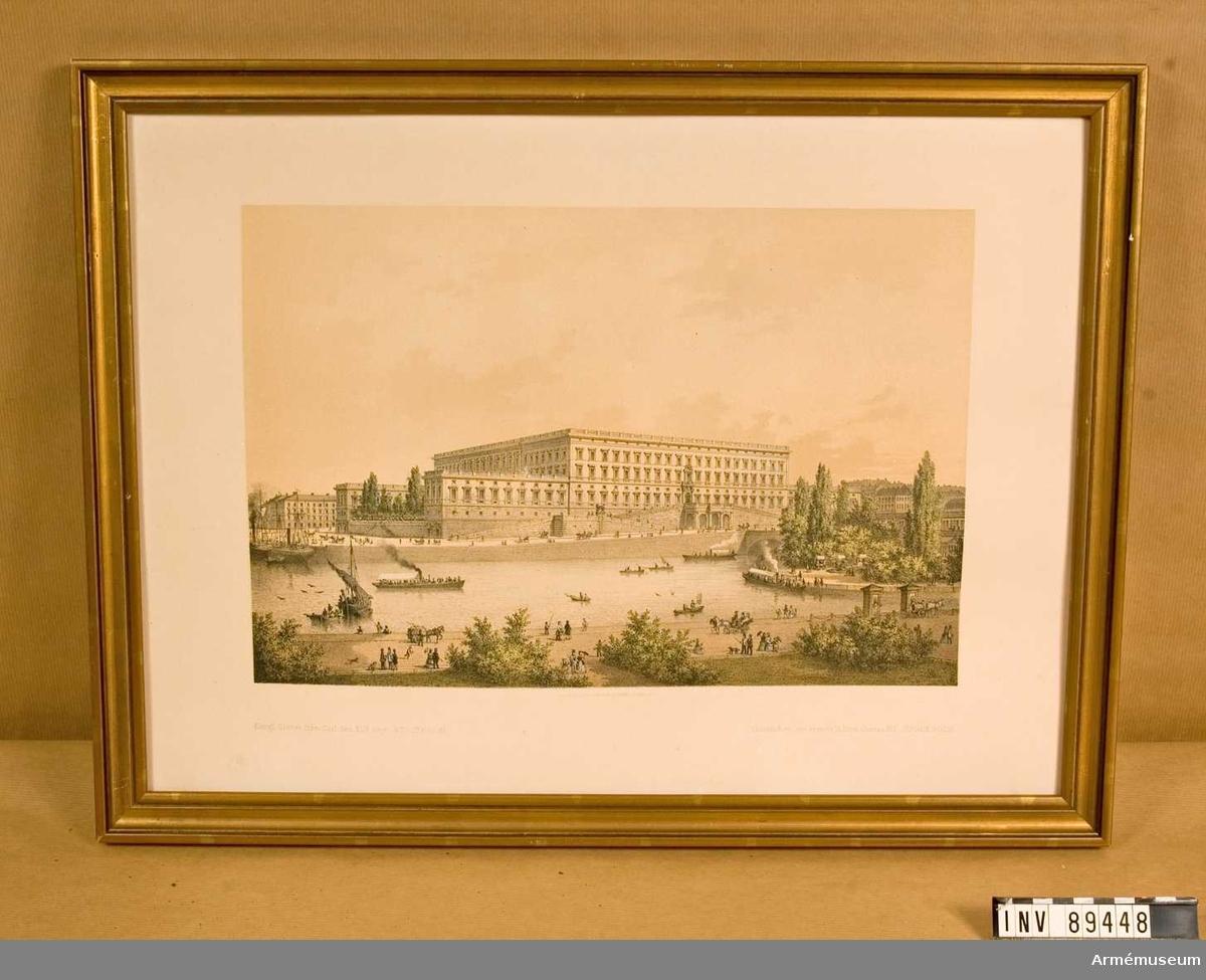Grupp MI. Kungliga Slottet ca 1870.
