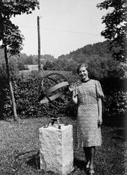 Reprofoto, kvinna vid solur