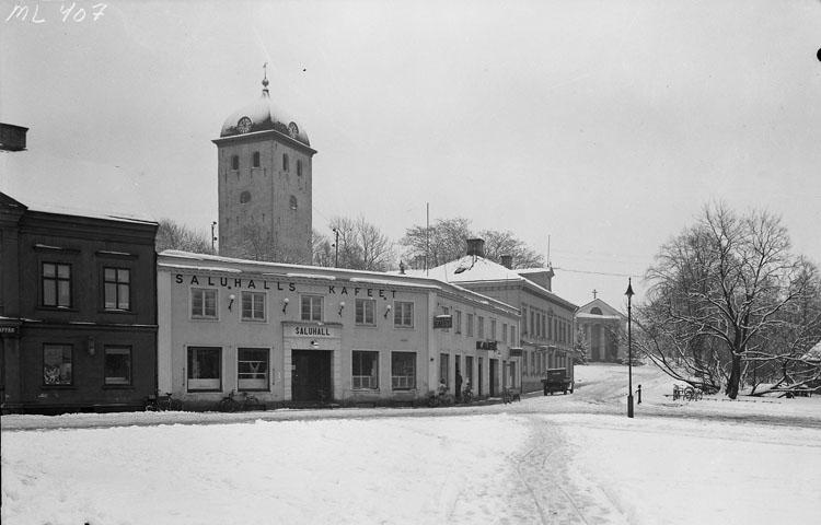 Uddevalla Saluhall med Saluhallskaféet omkring 1930