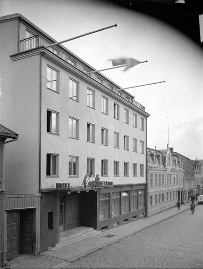"""Uppgift enligt fotografen: """"Uddevalla. Exteriör Hotell Carlia."""""""