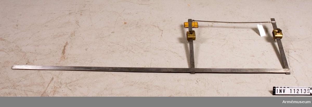I komplett tillstånd använd som skevborrningsinstrument vid kanonbesiktning.