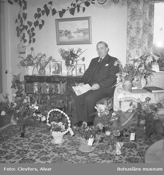 """Text till bilden: """"David Börjesson, Åkerbräckan. 50 år. 1954.04.11""""           i"""