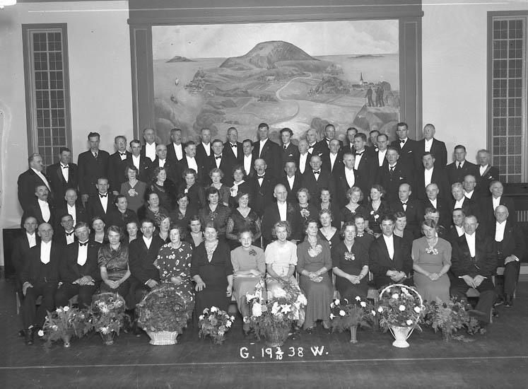 "Text till bilden:""Gerry Walhberg 50 år 3/10 1938""."
