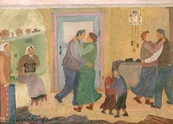 Dans i köket [Målning]