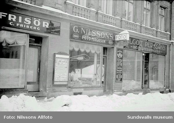 Gösta Nilssons Fotomagasin efter Torggatan.
