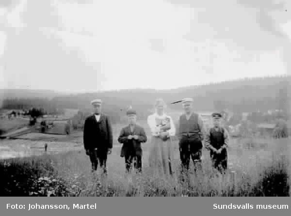 Familjen Persson i Sörfors.