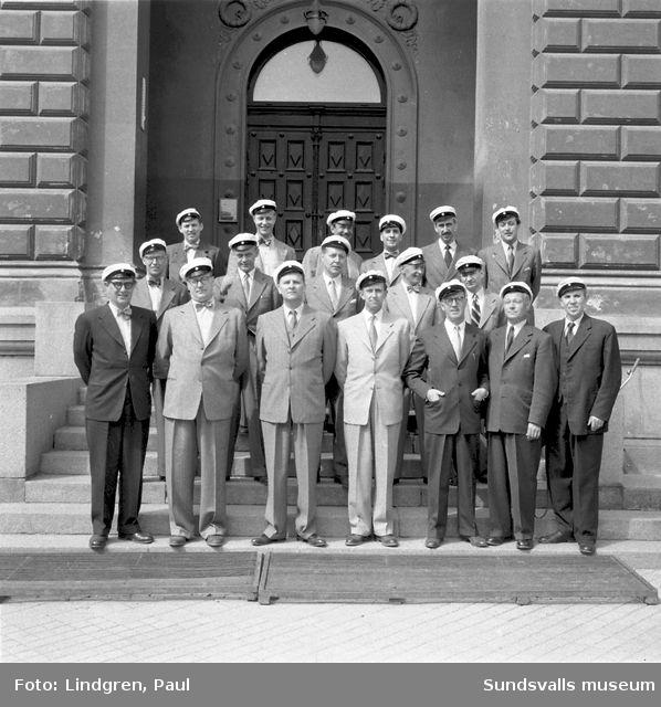 1929 års studenter. Grupporträtt.