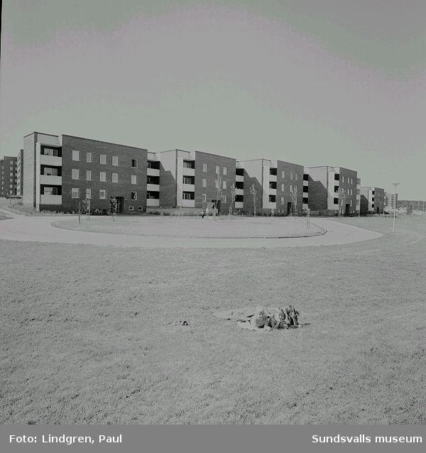 Flerbostadshus i kv Lägdan, Nacksta, 1970.