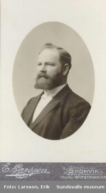 Predikant J Lundkvist, Skönvik, 1901.