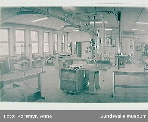 Dokumentation av f.d. Sidjöns sjukhus inför puplikation och utställning, producerade 1993.