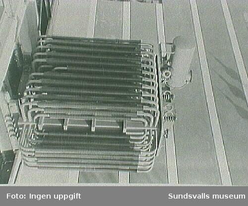 Transformator på plats vid nya ställverket, eletricitetsverket, 7/7 1932.