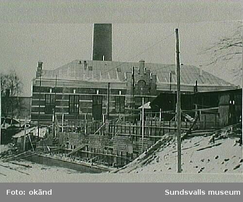 6 kV- och 20 kV-ställverket vid M1, elektricitets-verket, under byggnad 1932.