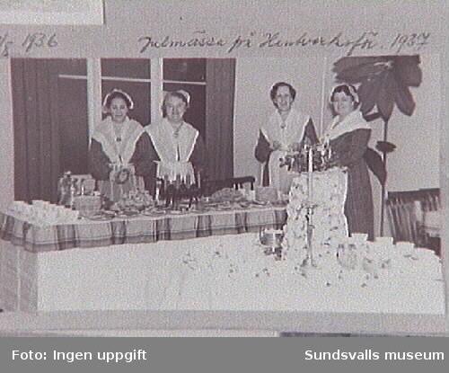 Martha-föreningens Julmässa i Hantverks-föreningens lokaler 1937.Kyrkogatan 26.