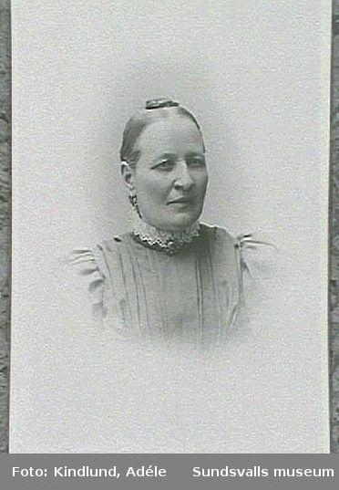 Visitkortsporträtt av fru Sellstedt.