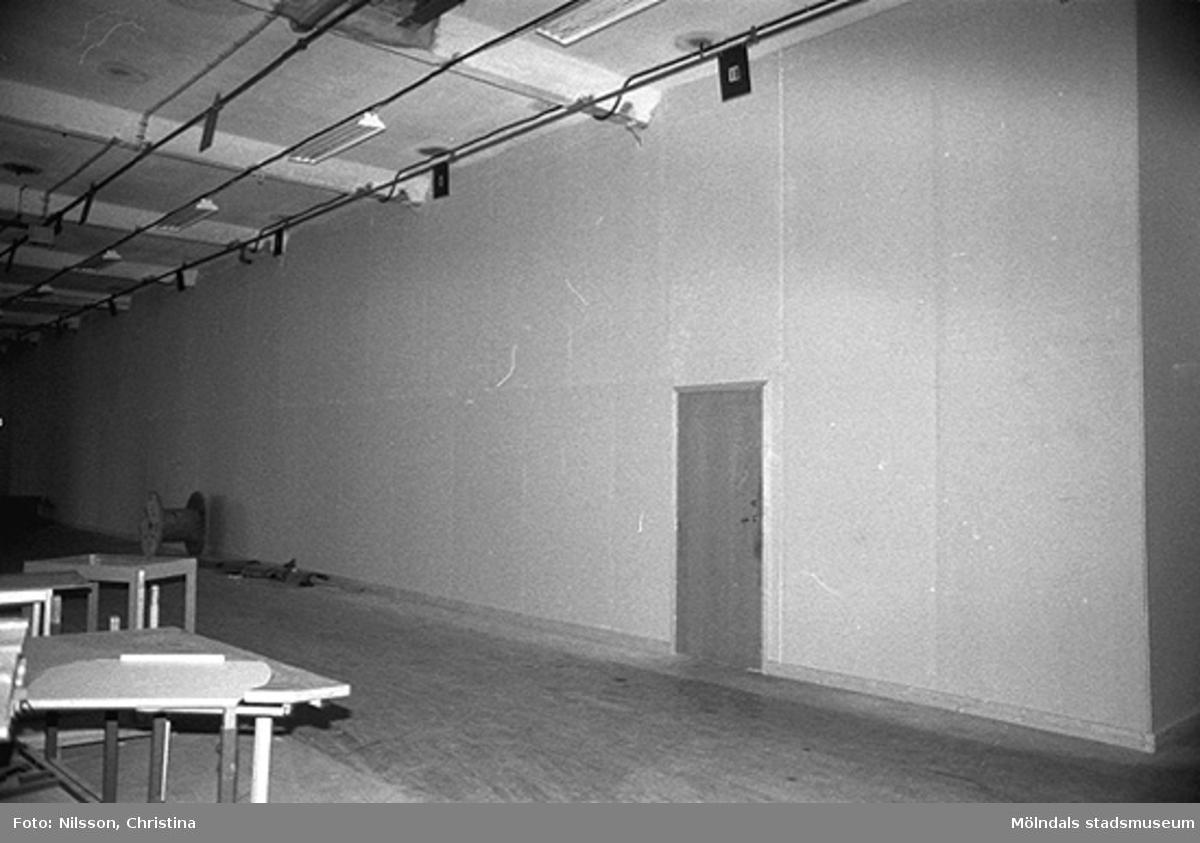 Werners fabriker, Lindome. Byggnadsdetaljer: Dörr. Hösten 1994.
