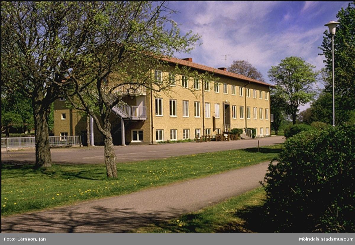 Förskolan (byggd 1936), senare Streteredsskolan, i Mölndals kommun, 1980-tal.