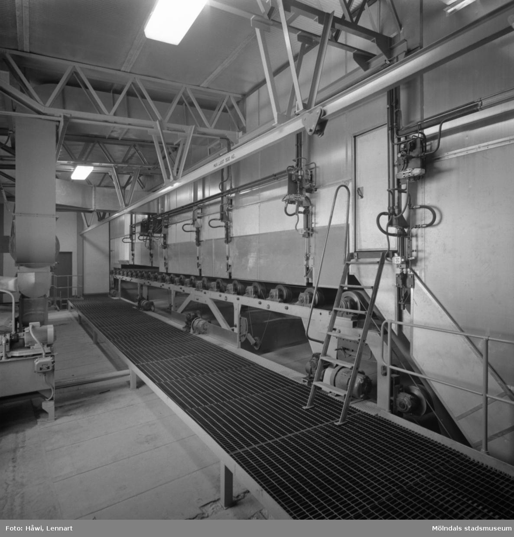 PM2 på Papyrus i Mölndal, 17/9 1963. Bestrykningsanläggning, torkcylindrar och torkkanal.
