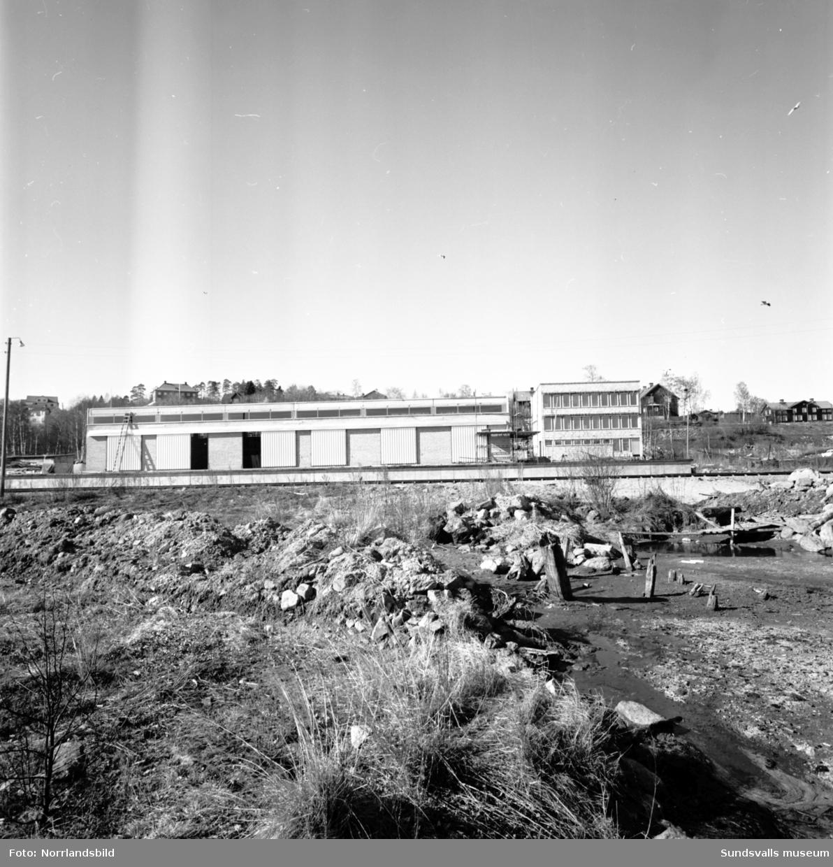 Bygge i Heffners industriområde (Ernström & Co).