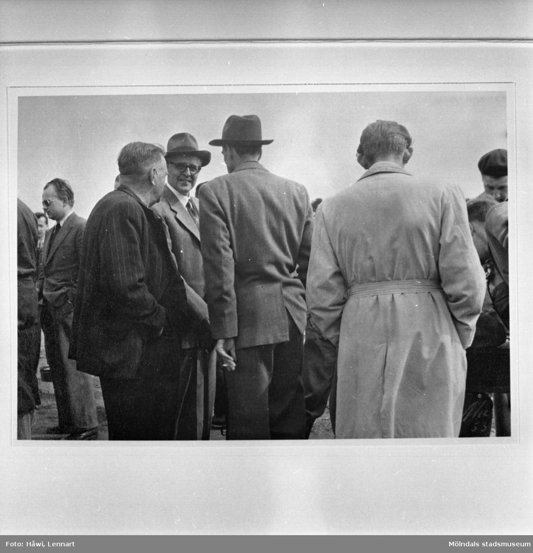 Papyrus skytteklubbs tävlingar på Kikås i Mölndal, 17/5 1953. Reprofoto.