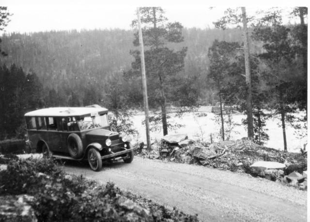 Linjen Östersund - Valsjöbyn Hotagen.