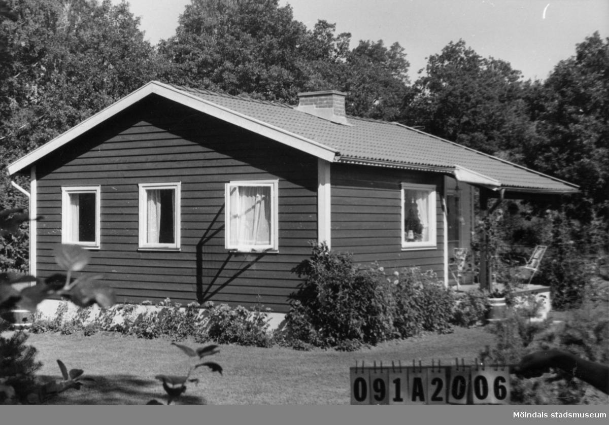 Byggnadsinventering i Lindome 1968. Hällesåker 4:48. Hus nr: 091A1006. Benämning: fritidshus och redskapsbod. Kvalitet, fritidshus: mycket god. Kvalitet, redskapsbod: god. Material: trä. Tillfartsväg: framkomlig. Renhållning: soptömning.