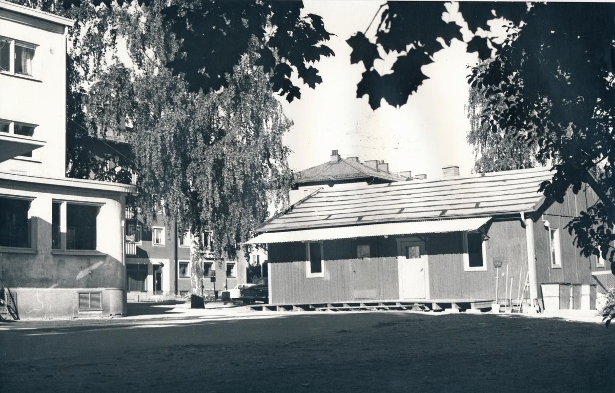 """""""Baracken"""" som användes som masspostlokal under 1960-talet samt som brevbäringsexpedition under Postkontorets ombyggnad."""