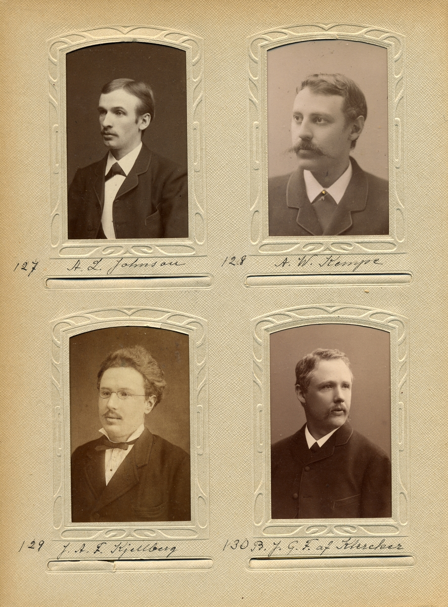 Porträtt av Bror Johan Göran Fredrik af Klercker, postmästare i Torpshammar 1882-1891 och i Mellerud 1891-1904.