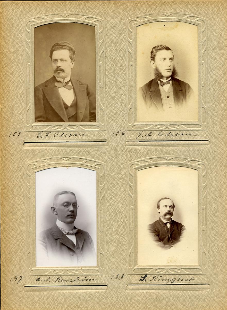 Porträtt av Samuel Ringqvist postmästare i Herrljunga 1863-1876, i Nora Stad 1876-1878 samt i Falköping 1879-1899.