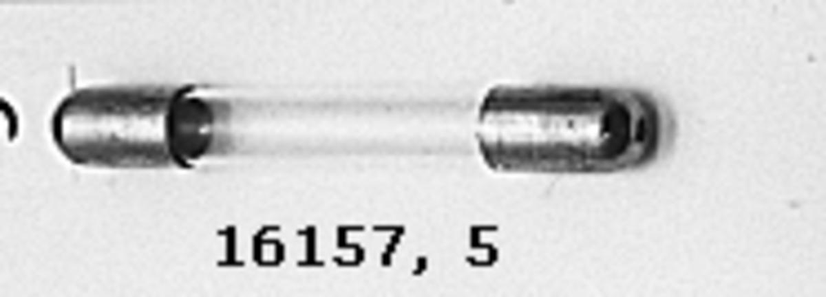 Instrumentstav glasrör. Rak, metallskoning i båda ändar.