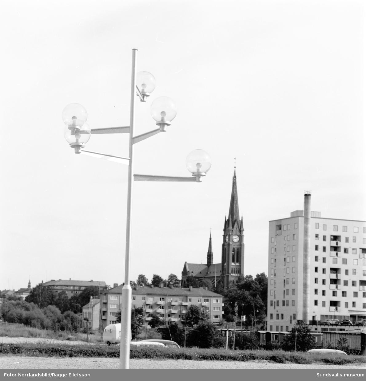Byggnationer och rivningar på västra Storgatan.