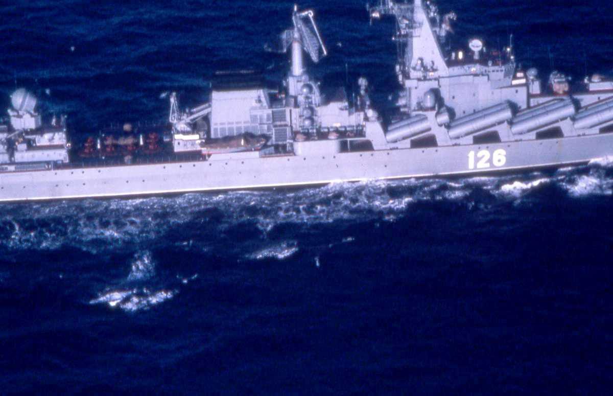 Russisk fartøy av Slava - klassen med nr. 126.