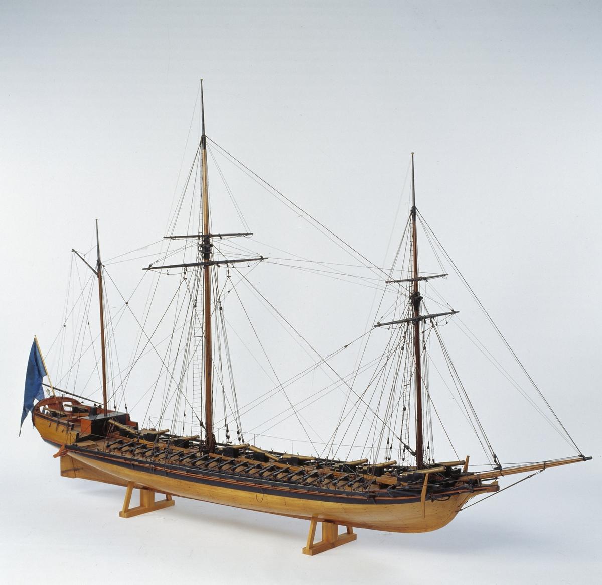 Fartyg: INGEBORG                        Rederi: Kungliga Flottan, Marinen Konstruktör: Chapman, Fredrik Henrik af