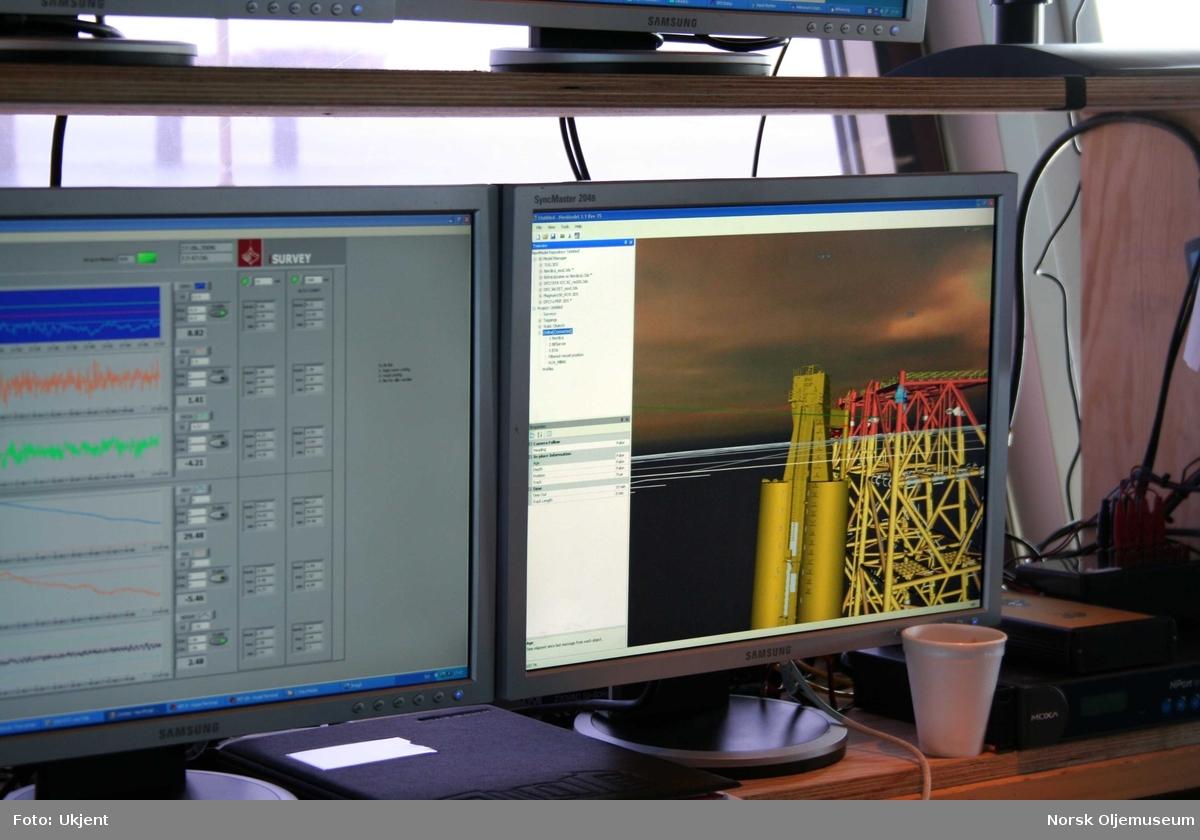 Dataanimasjon på moderfartøyet Nordica, viser den første av fire store  spesiallagede pontonger, som monteres på fire av DP 2's  plattformbein.  Pontongene skal brukes til heving og slep av plattformens stålunderstell, som senere skal taues til land for videre opphogging og gjenvinning. Kranlekteren Saipem 7000 løftet bort plattformens siste moduler på høstparten året i forveien, og bare stålunderstellet ble stående igjen på havbunnen i en periode vinterstid.