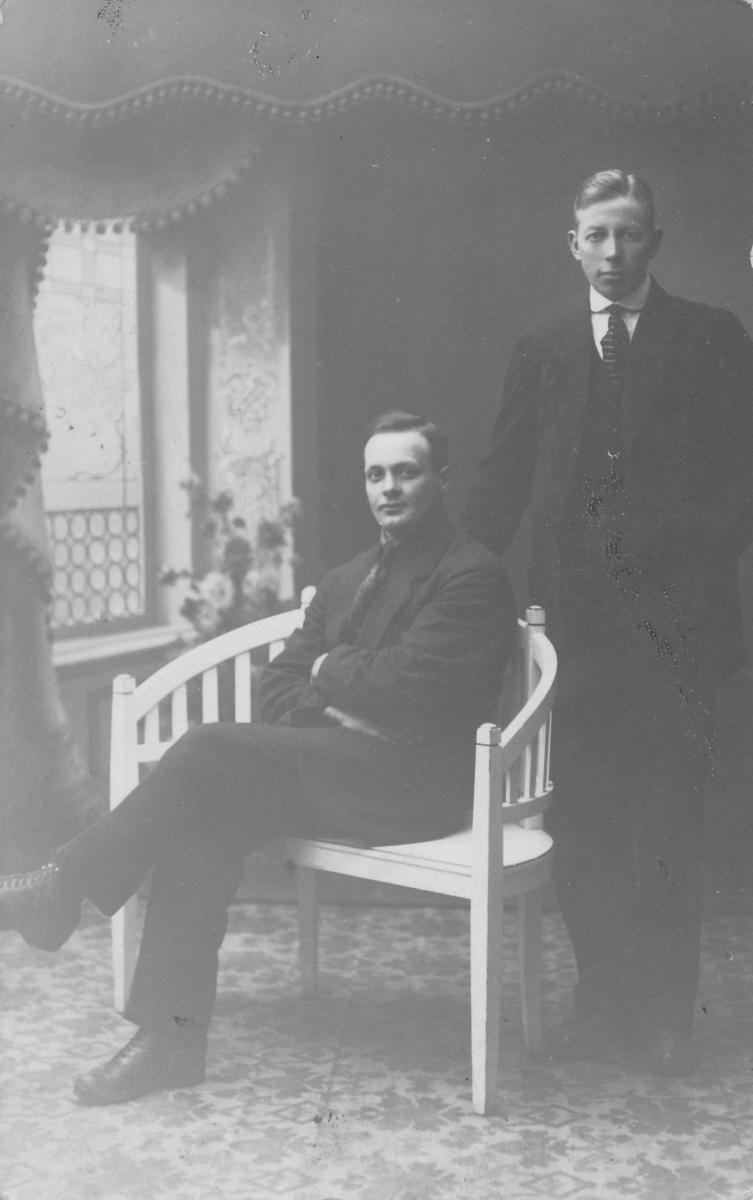 Knut Jore og Torvald Moen, arbeidarar ved Åmdals Verk