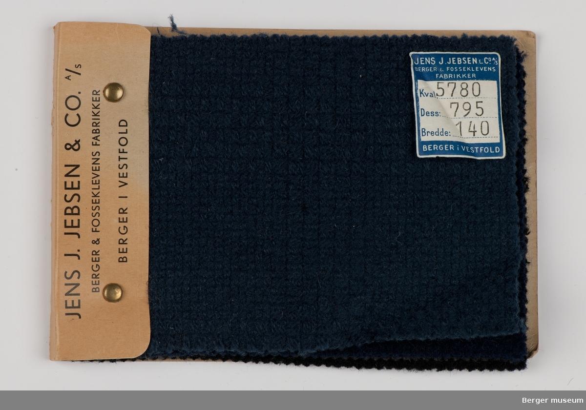 Prøvehefte med 4 prøver Kåpe, bekledning Kvalitet 5780 Stykkfarget