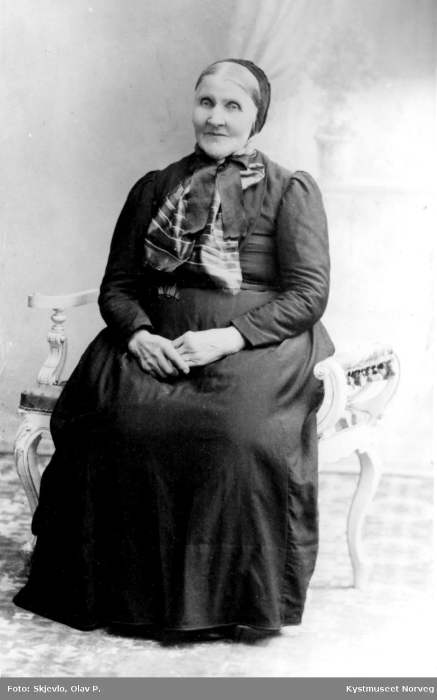 Portrett av eldre ukjent kvinne