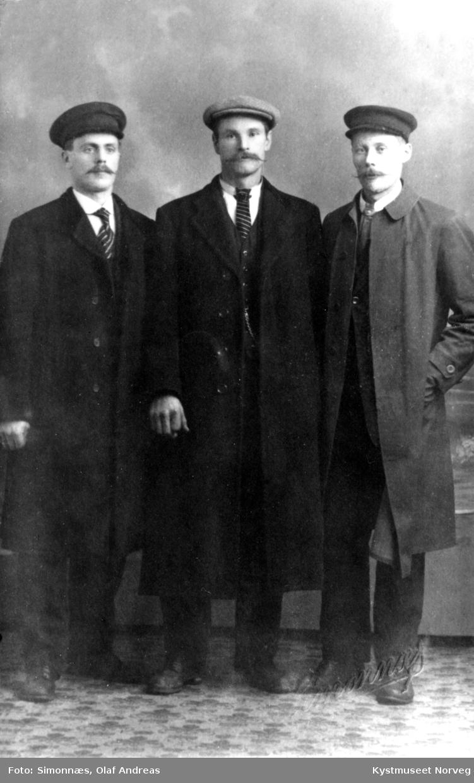 Johan Binderø, Fredrik Hunnestad og Anton Hunnestad