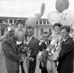 Firande av realexamen vid Parkskolan, 1960
