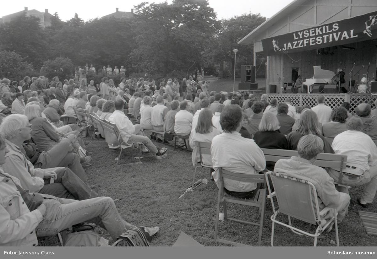 "Text till bilden:""Jazzfestivalen i Lysekil 1991-07-13"". llll"