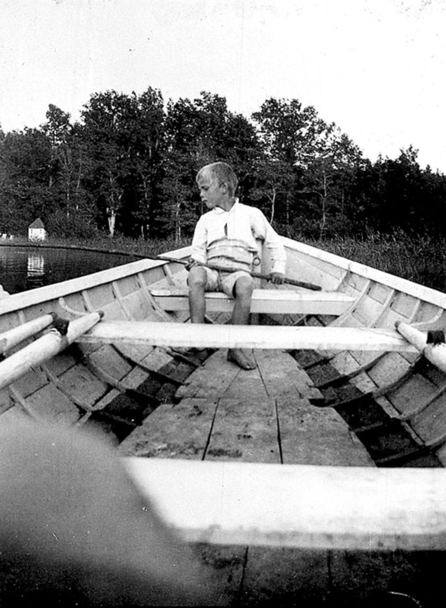 Adam Fjälltorp på Mariefredsfjärden 1924