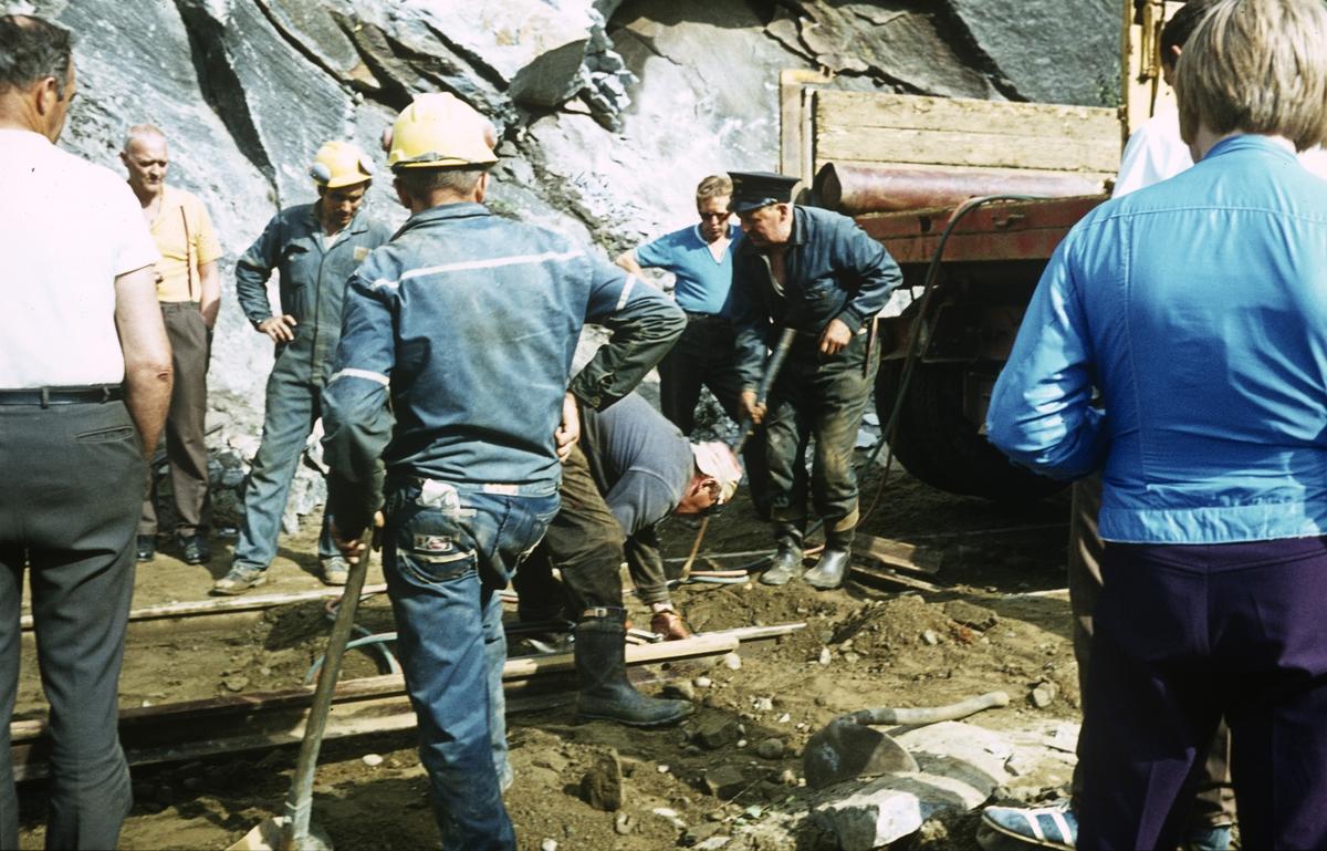 Anleggsarbeid i forbindelse med nedleggelsen av Sulitjelmabanen.