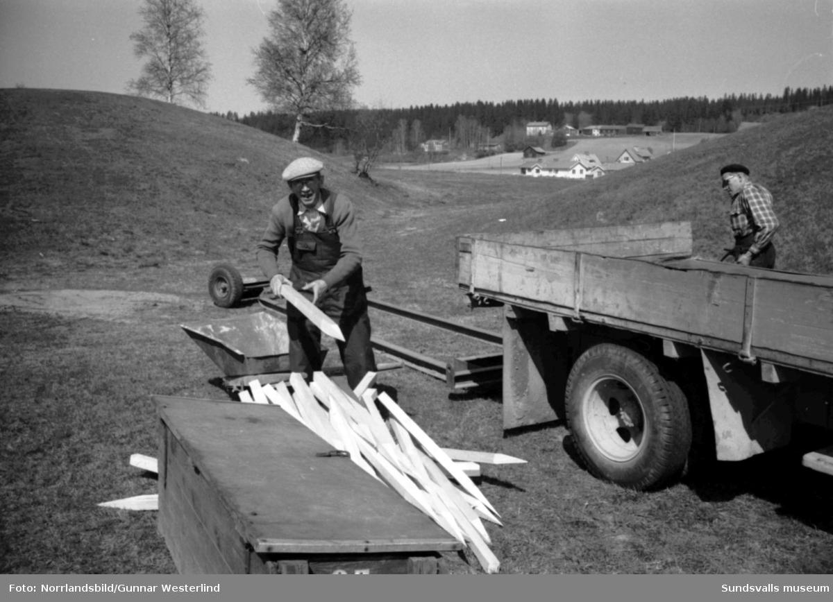Nya utgrävningar i Högomsgravarna.