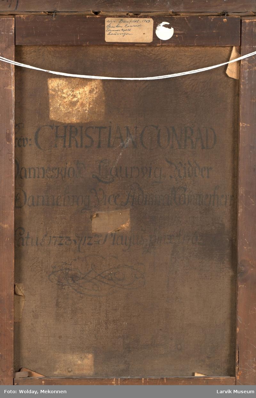 Grev Christian Conrad Danneskjold Laurvig. Sign: Beenfeldt 1763