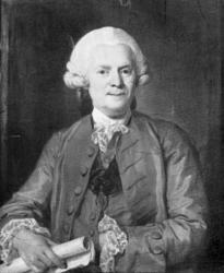"""""""Borgmästare Mikael Koch född 1715, död 1789 Uddevalla""""."""
