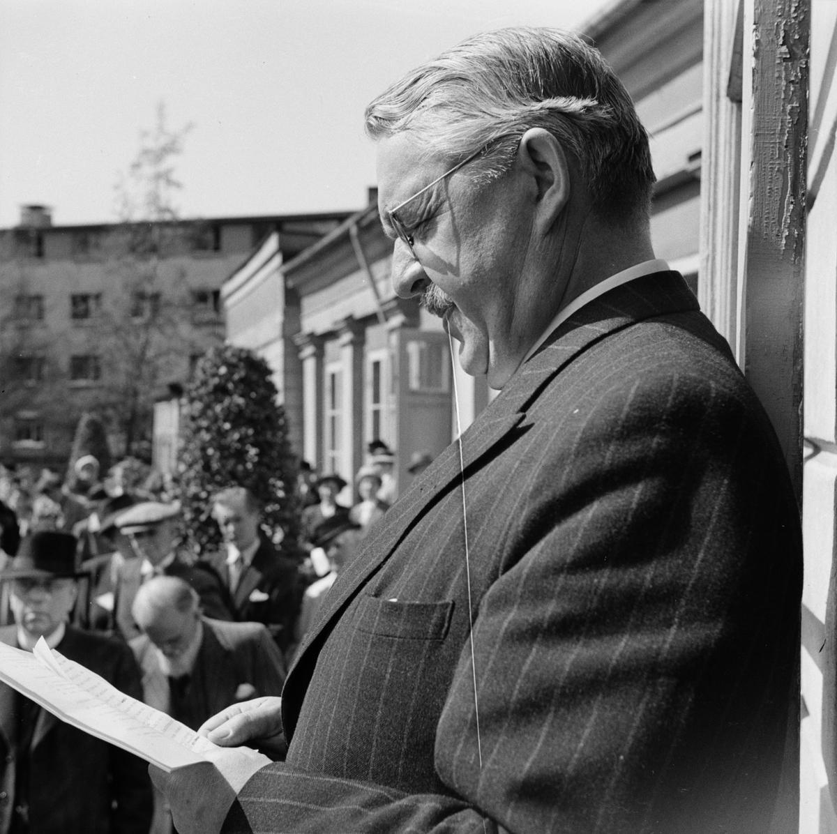 Linnéträdgården - konstutställning, Uppsala maj 1947